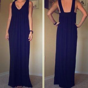 J Crew Black maxi dress